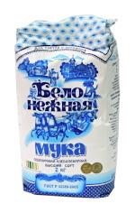 Бело-Нежная. Мука пшеничная хлебопекарная, высший сорт